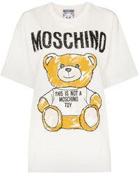 d1a6cd0c Moschino - Teddy Bear Logo T-shirt - Lyst