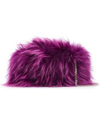 DSquared² - Raccoon Fur Clutch Bag - Lyst