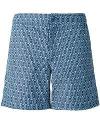 Fashion Clinic Chain Print Swim Shorts - Blue