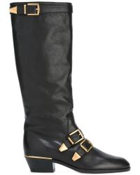Chloé - Knee-High Leather Boots - Lyst