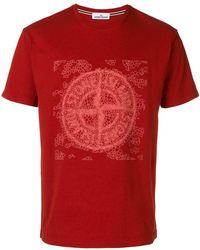 Stone Island - T-Shirt mit Logo - Lyst