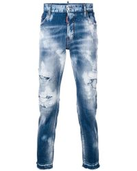 DSquared² - Skater Bleached Jeans - Lyst