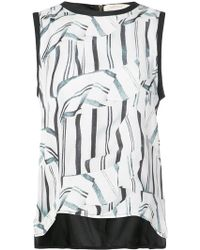 Nicole Miller - Front Printed Loose Sleeveless Top - Lyst