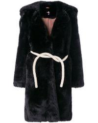 Shrimps - Belted Fur Coat - Lyst
