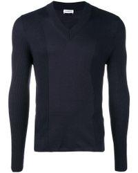 Dirk Bikkembergs - Panelled Rib V-neck Sweater - Lyst