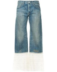 Tu Es Mon Tresor - Tulle Frill Hem Jeans - Lyst