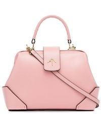 MANU Atelier - Bubblegum Pink Frame Leather Cross-body Bag - Lyst