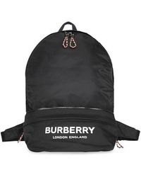Burberry - Logo Print Convertible Bum Bag - Lyst