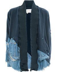 Greg Lauren - Denim-panelled Jersey Jacket - Lyst