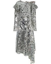 Preen By Thornton Bregazzi - Jodie Sequin Off-the-shoulder Midi Dress - Lyst