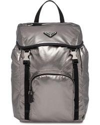 Prada - Laminated Logo Backpack - Lyst