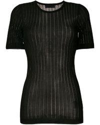 Diesel Black Gold - Ribbed Knit T-shirt - Lyst