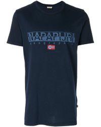 Napapijri - Logo Print T-shirt - Lyst