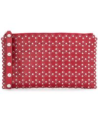 RED Valentino - Flower Applique Stud Clutch - Lyst