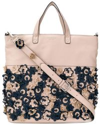 Tosca Blu - Perforated Flower Tote - Lyst