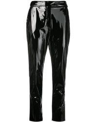 MSGM - Slim fit vinyl trousers - Lyst