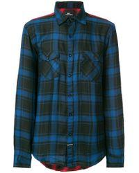 LES (ART)ISTS - Colour Block Plaid Shirt - Lyst