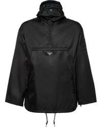 Prada - Nylon Gabardine Anorak Jacket - Lyst