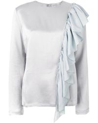 TOME - Ruffle Embellished Blouse - Lyst