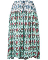Jil Sander Navy | Floral Print Midi Skirt | Lyst