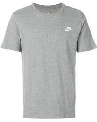 Nike - Logo Embroidered T-shirt - Lyst