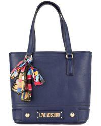 Love Moschino - Logo Plaque Shoulder Bag - Lyst