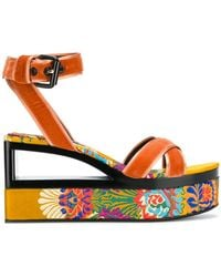 Casadei - Velvet Sandals - Lyst