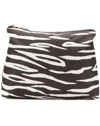 Ganni - Zebra Print Makeup Bag - Lyst