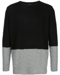 Loveless - Contrast Knit Jumper - Lyst