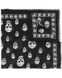 b4e2090a3e9b Lyst - Men s Alexander McQueen Scarves and handkerchiefs