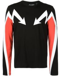 Neil Barrett - Arrow Print Jumper - Lyst