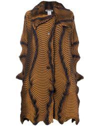 Issey Miyake - Wave Textured Coat - Lyst