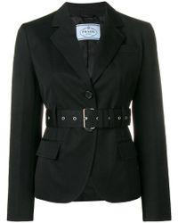 Prada - Belted Fitted Blazer - Lyst