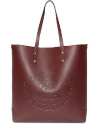 80f82f171940 Burberry - Embossed Crest Leather Tote - Lyst