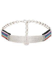 Venessa Arizaga - Shine Rainbow Crystal Choker - Lyst