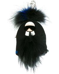 Fendi - Mini 'karlito' Backpack Bag Charm - Lyst
