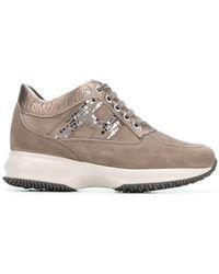 Hogan - Embellished H Sneakers - Lyst