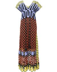 Tsumori Chisato | Embroidered Overlay Shift Dress | Lyst