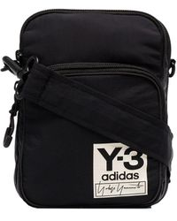 Y-3 - Airliner Logo Patch Messenger Bag - Lyst