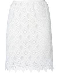 Giamba - Diamond Lace Skirt - Lyst