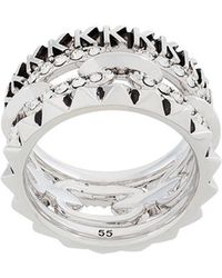 Karl Lagerfeld - Stacked Chain Ring - Lyst