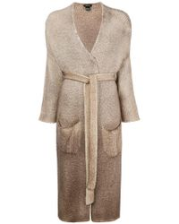 Avant Toi - Belted Long Cardigan - Lyst