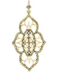 Loree Rodkin - 18kt Yellow Gold And Diamond Pendant - Lyst