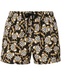 Moschino - Teddy Print Swimming Trunks - Lyst