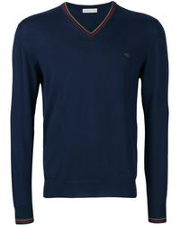 Etro V-neck Logo Jumper