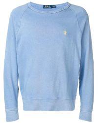 Ralph Lauren - Embroidered Logo Sweatshirt - Lyst