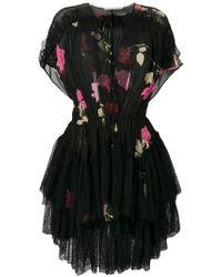 Amen - Floral Print Sheer Dress - Lyst