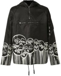 Haculla - 'faces' Print Hoodie - Lyst