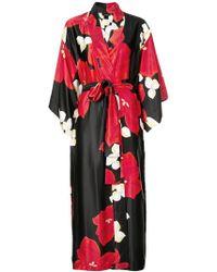 Natori - Floral Print Belted Coat - Lyst