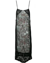 I'm Isola Marras - Floral Print Lace Panel Shift Dress - Lyst